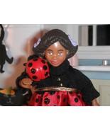 Dollhouse Halloween Little Kelly Lady Bug Costume Barbie & Lady Bug Magnet - $5.93