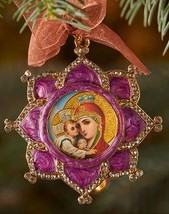 Queen of Heaven Enameled Ornament