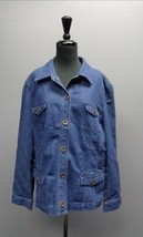 JONES NEW YORK SPORT NWT Blue Button Up Jean Jacket Sz XXL Cotton Blend ... - $29.65