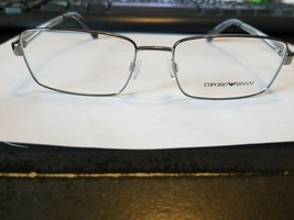 Authentic Emporio Armani EA1015 3010 Silver Eyeglasses Frame 55/17/140.NEW - $58.41