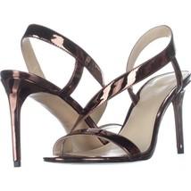 Nine West Rhyan Cross Strap Sandals, Bronze, 6 US - $37.72