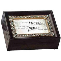Roman Place In Heaven Brown Large Bereavement Collection Music Box - $52.38