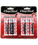 2 Packs 6 Total Limited Edition Candy Cane Chap Stick Brand Lip Care .15... - $15.99