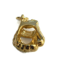 3D Baseball Catcher Glove Charm Pendant 14k Yellow Gold!! - $476.00