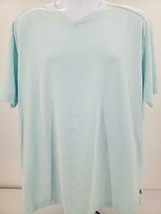 Tommy Bahamas Light Aqua Men's Pique Short Sleeve T-Shirt Size XL - $23.33