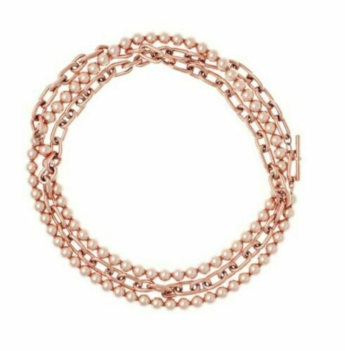 Primary image for Michael Kors MKJ6981 Pearl Link Versatile Necklace, Rose Gold Tone $145