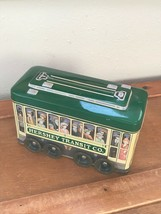 Hershey's Vehicle Series Canister #3 Trolley Green & Yellow Tin Metal Co... - $8.59