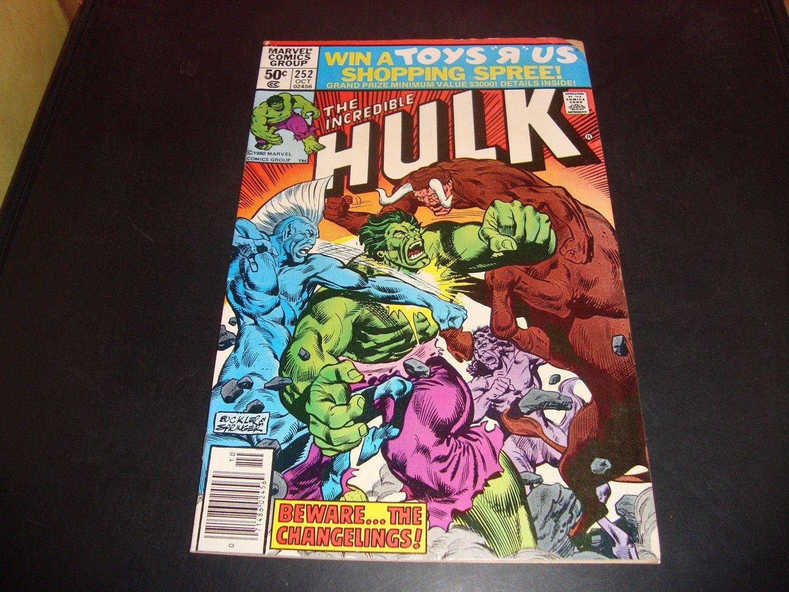 The Incredible Hulk #252 Marvel Comic Book VF 8.0 1980 Beware The Changelings