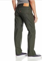 NEW LEVI'S 501 MEN'S ORIGINAL FIT STRAIGHT LEG JEANS BUTTON FLY GREEN 501-1892 image 1