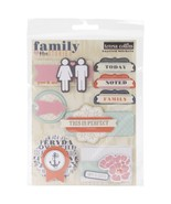 Teresa Collins Designs Family Stories Layered Stickers, - $10.72