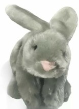 Animal Adventure Super Soft Gray Bunny Rabbit Plush Pink Nose Easter Gift - $16.36