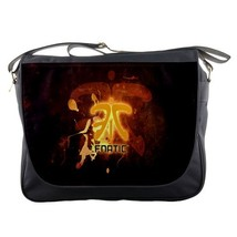 Messenger Bag Fnatic Logo Professional eSports Organization In Elegant Brown Des - $30.00