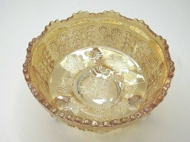 Fenton BUTTERFLY & BERRY Carnival Depression Glass Claw Foot Master Bowl... - $38.09
