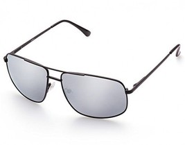 Rectangular Polarized Sunglasses For Men, Fashion Silver Mirrored Lens, Cool UV - $26.41