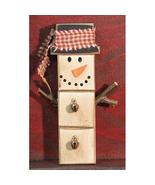 Christmas Snowman Ornament Wood Block   - $5.95