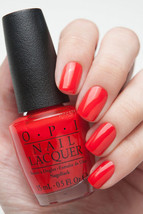 OPI Gwen Holiday ~FASHION A BOW~ Bright Red Orange Nail Polish Lacquer H... - $7.50