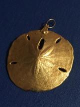 Vintage Golden Sand Dollar (mold) Pendant image 2