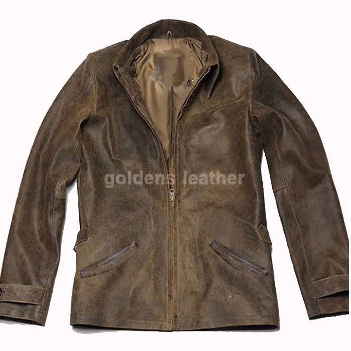 New Men's Stylish Lambskin Genuine Leather Motorcycle Biker Slim Fit Jacket GN34