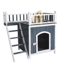 2-Story Large Wooden Pet House Outdoor&Indoor Puppy Dog Cat Shelter/Hous... - $97.76