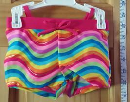 Wonder Kids Baby Clothes 6M-9M Rainbow Stripe Bikini Swimsuit Newborn Swim Suit - $12.34