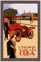 Visite Cuba POSTER.Home Interior Design.Morro Castle. Red car.Decor Art31i - $10.89+