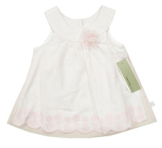 CALVIN KLEIN JEANS INFANT GIRLS MESH LAYER SLEEVELESS PINK EMBROIDER DRE... - $24.74