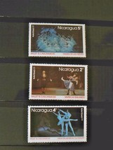 Nicaraqua Set of 3 Stamps MINT -canceled - MNH Free Shipping # 002122 - $1.68