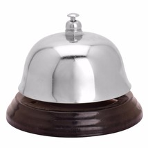 Steel Classic Bell Call Ringer Ring Reception Restaurant Desk Kitchen Of... - $6.92