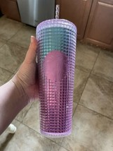 Starbucks Summer 2021 Pink and Blue Grid 24oz Tumbler NWT - $49.50