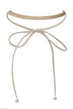 Elegant Velvet & Pearl Long Suede Necklace Tie Up Wrap Bow Knot Fashion Choker - $8.63+