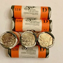 Lot of 6 Rolls 2008 ARIZONA AZ Denver D Mint State Quarters U.S. Mint Coins - $99.95