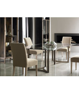 ARIEL 7 pieces Modern Dining Room Rectangular Metal Glass Top Table & Ch... - $3,897.75