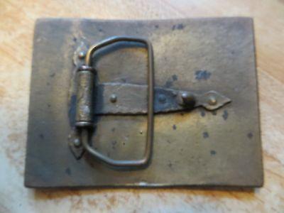 Belknap Hardware and manufacturing co.brass cowboy belt buckle,steers cows bulls