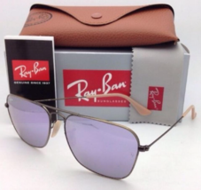 RAY-BAN Sunglasses CARAVAN RB 3136 167/4K 58-15 Bronze Aviator w/ Lilac Mirror - $169.95