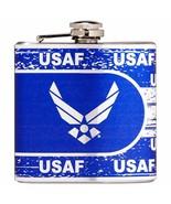 US Air Force Military Logo 6 oz Metallic Wrap Flask - Graduation Retirem... - $14.95