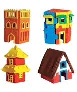 HOUSES- DIY 3D puzzle- Make your own construction - £22.23 GBP