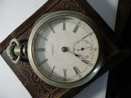 Antique Large American Waltham Watch Grade: No. 18 C.1902 Nickel Finish  - $70.00