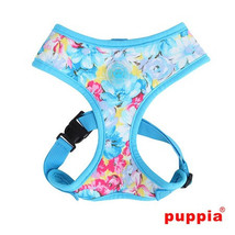 """Puppia """"Spring Garden Floral"""" Choke-Free Halter Harness in Color Sky Blue - $28.98"""