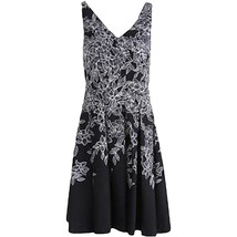 Lauren Ralph Lauren Womens Sz 10 Floral Print Sleeveless B/W Dress 2936-3 - $46.27