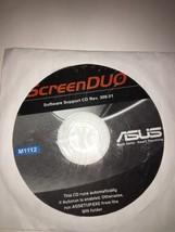 ScreenDUO Software Support CD Rev.308.01 disc M1112-ASUS-NEW-VERY RARE V... - $87.45