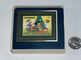1993 Hanford Heirlooms Grenada Disney 1986 Christmas Train Ride Stamp LE... - $19.86