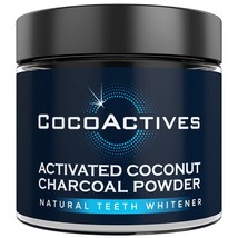 CocoActives Teeth Whitening Activated Charcoal Powder Organic Coconut Ch... - $14.98