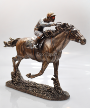 Jockey Horse Racing Rides a Horse in Races Great Gift sport man in horse  - $99.00