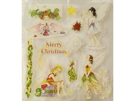 Clear Christmas Fairies Stamps, Set of 10
