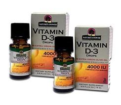 Natures Answer Platinum Vitamin D3 4000 IU Liquid Drop, 0.5 Ounce - 2 per case.
