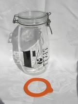 "Vintage Triomphe France ""1 ½ Liter"" Glass Jar Canister w/Hinged Metal Ba... - $7.99"
