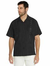 Men's Guayabera Short Sleeve Button Up Cuban Beach Embroidered Dress Shirt 3XL