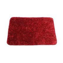 PLAIN TINSEL RED GOLD BATHMAT BATH MAT RUG W50 X L80CM - $14.54