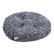 "Japanese Style Linen Yoga Bolster Tatami Floor Round Cushion(Blue,17"") - $19.33"