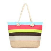 Multicolor Striped tote bag  - $39.95